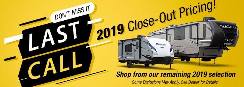 2019 RV Closeout Sale